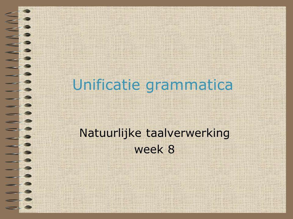 Unificatie grammatica