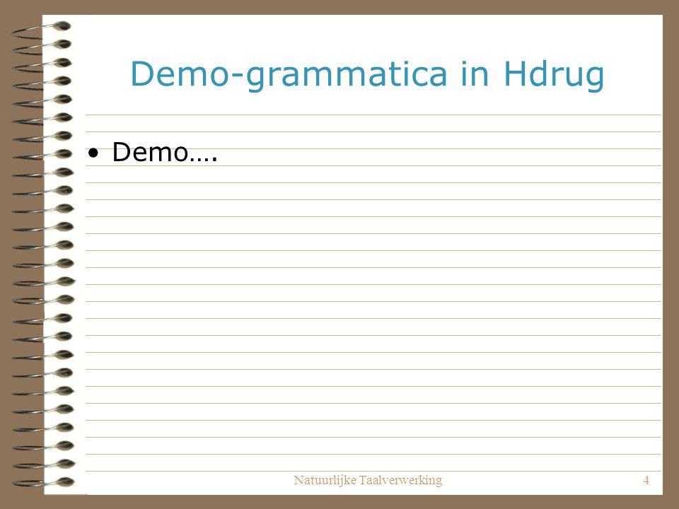 Demo-grammatica in Hdrug