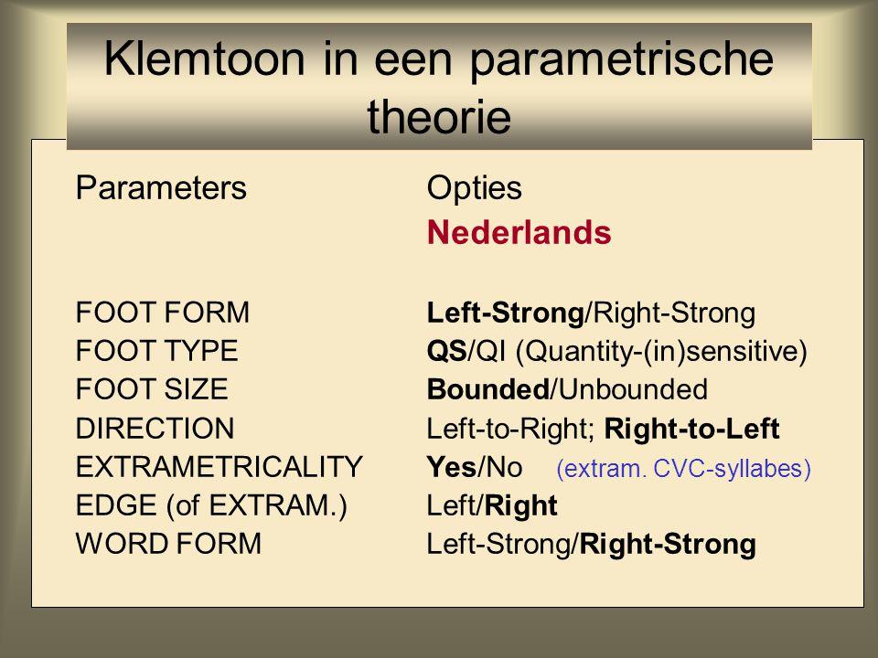 Klemtoon in een parametrische theorie