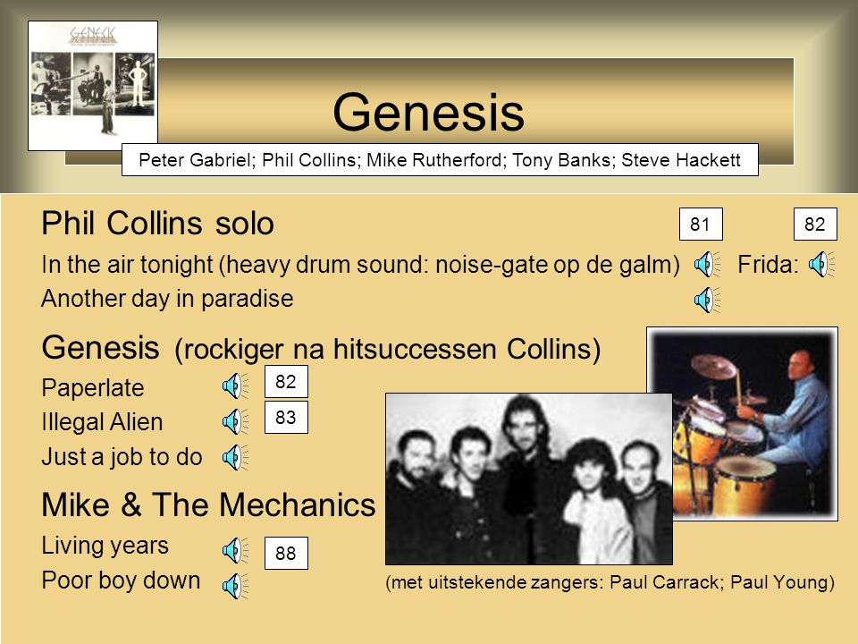 Genesis Phil Collins solo Genesis (rockiger na hitsuccessen Collins)