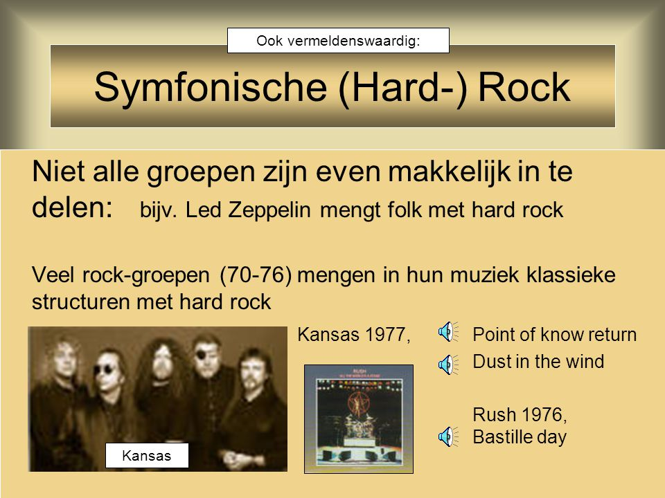 Symfonische (Hard-) Rock