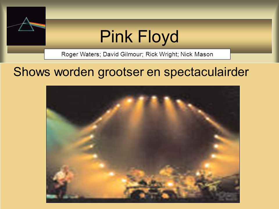 Roger Waters; David Gilmour; Rick Wright; Nick Mason