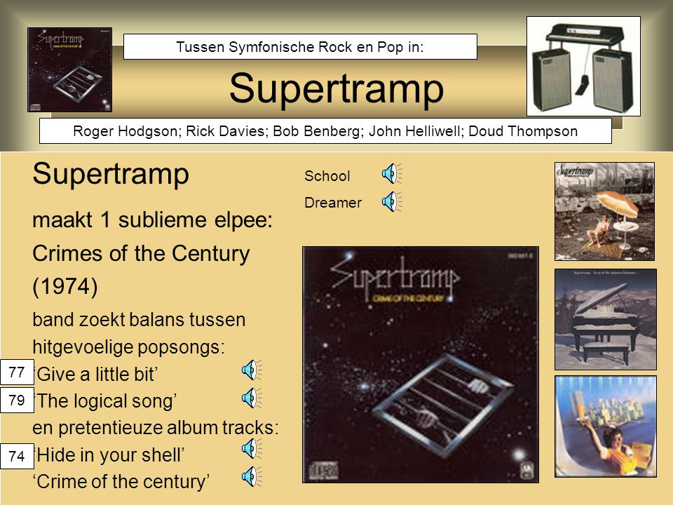 Supertramp Supertramp maakt 1 sublieme elpee: Crimes of the Century
