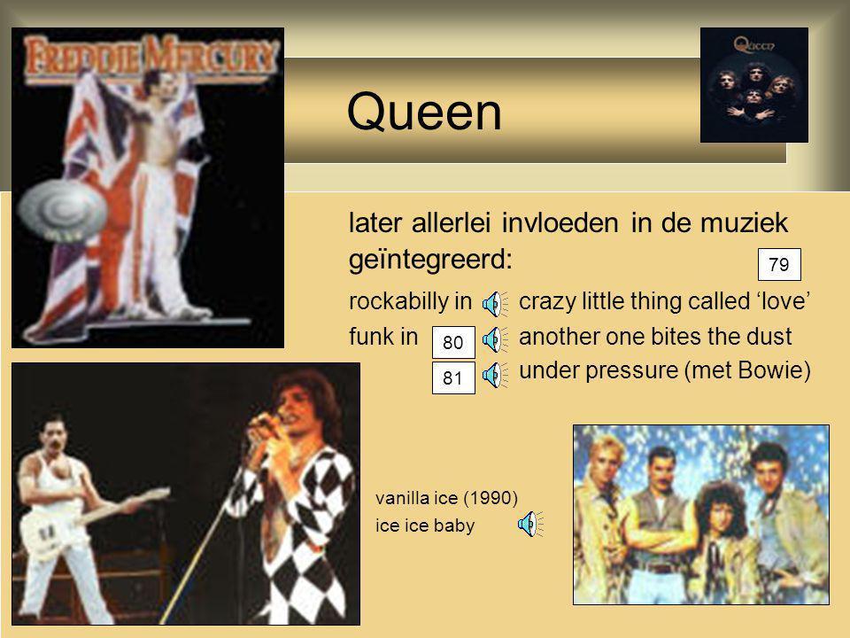 Queen later allerlei invloeden in de muziek geïntegreerd: