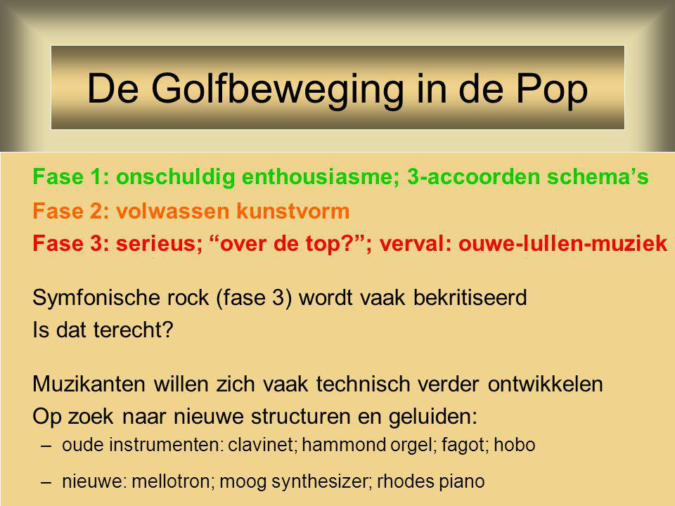 De Golfbeweging in de Pop