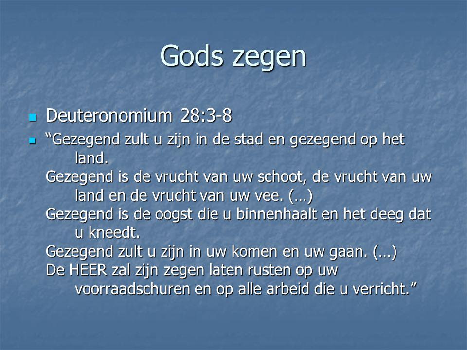 Gods zegen Deuteronomium 28:3-8