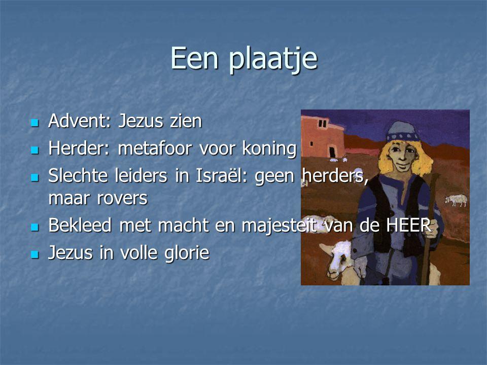 Een plaatje Advent: Jezus zien Herder: metafoor voor koning