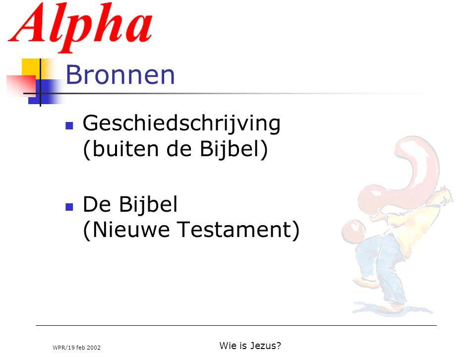 Bronnen Geschiedschrijving (buiten de Bijbel)