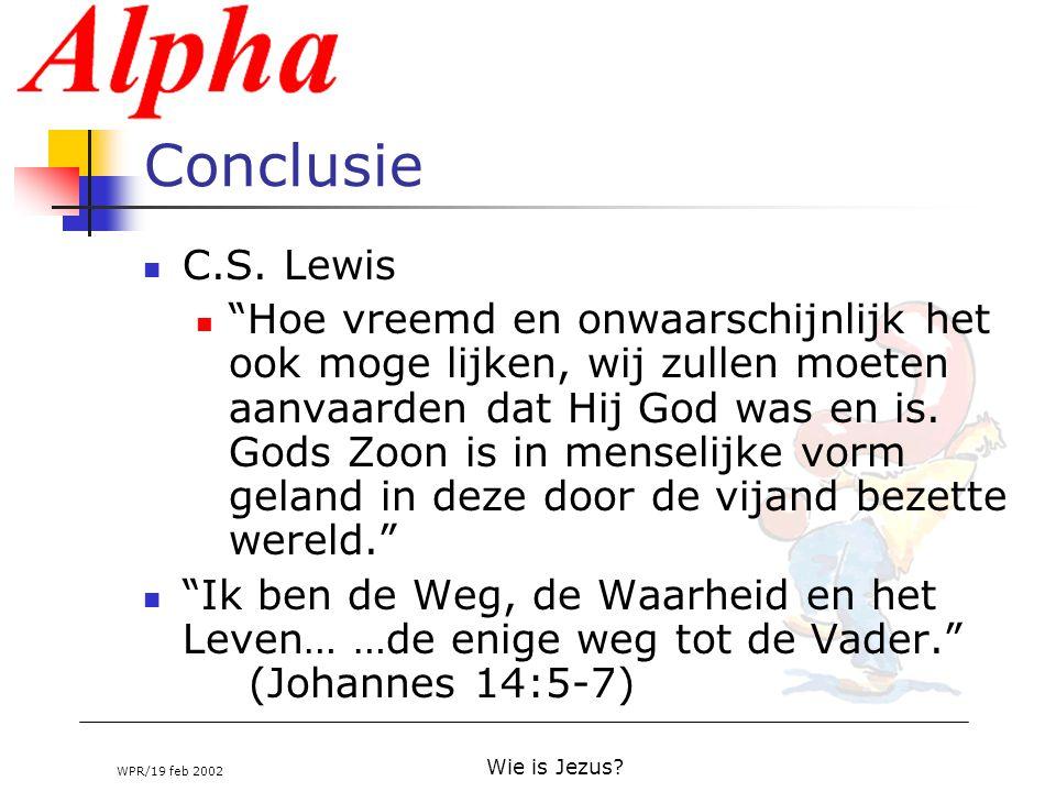 Conclusie C.S. Lewis.