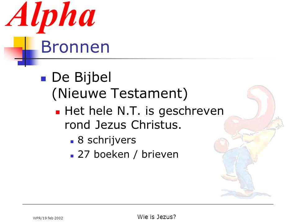Bronnen De Bijbel (Nieuwe Testament)