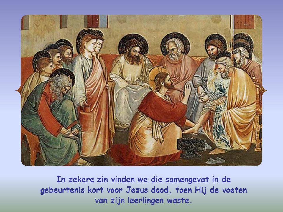 In zekere zin vinden we die samengevat in de gebeurtenis kort voor Jezus dood, toen Hij de voeten van zijn leerlingen waste.