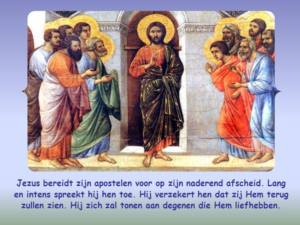 Jezus bereidt zijn apostelen voor op zijn naderend afscheid