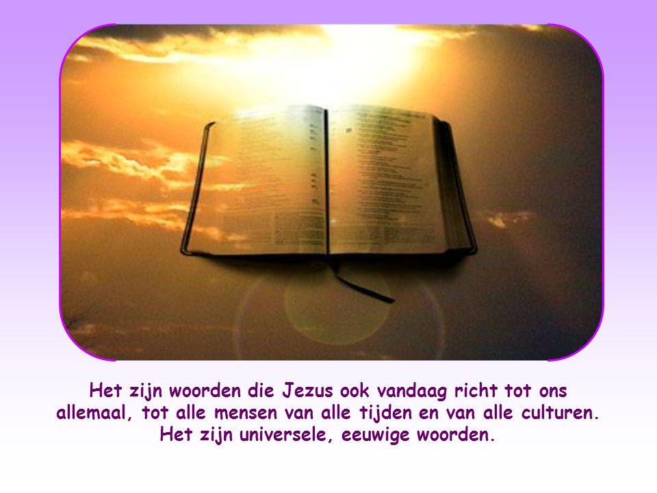 Het zijn woorden die Jezus ook vandaag richt tot ons allemaal, tot alle mensen van alle tijden en van alle culturen.