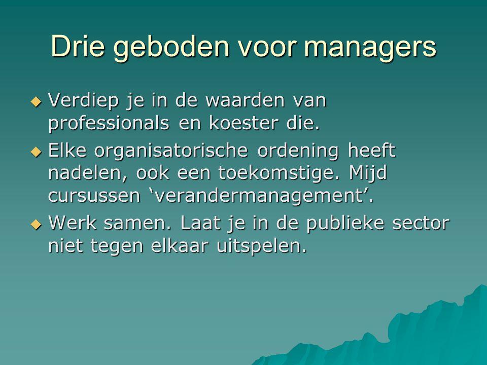 Drie geboden voor managers