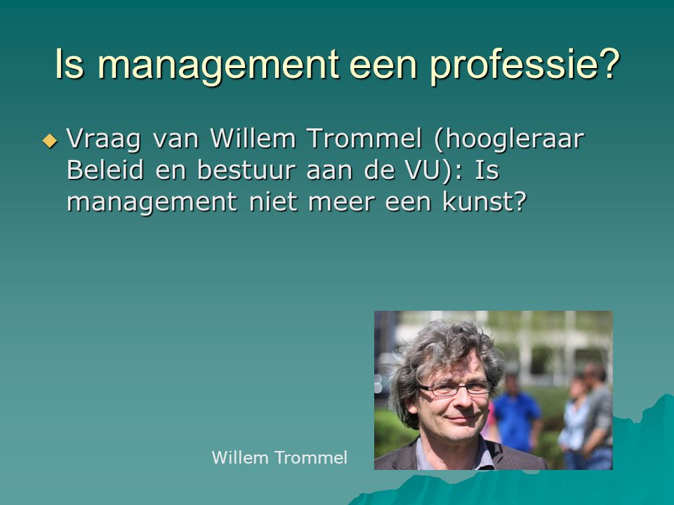 Is management een professie