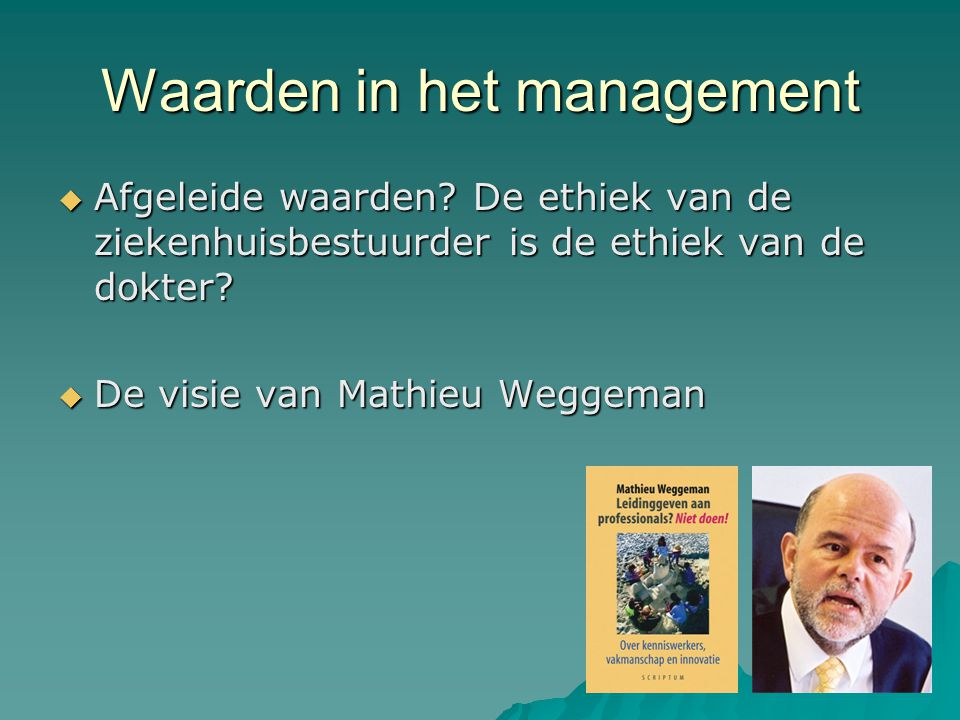 Waarden in het management