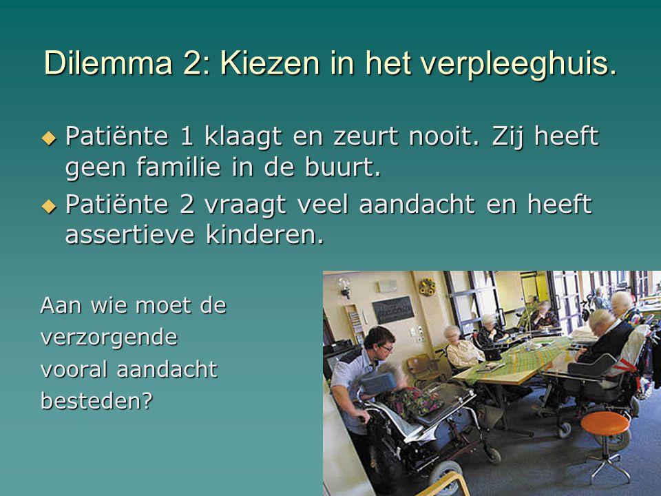 Dilemma 2: Kiezen in het verpleeghuis.
