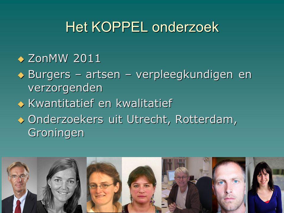 Het KOPPEL onderzoek ZonMW 2011
