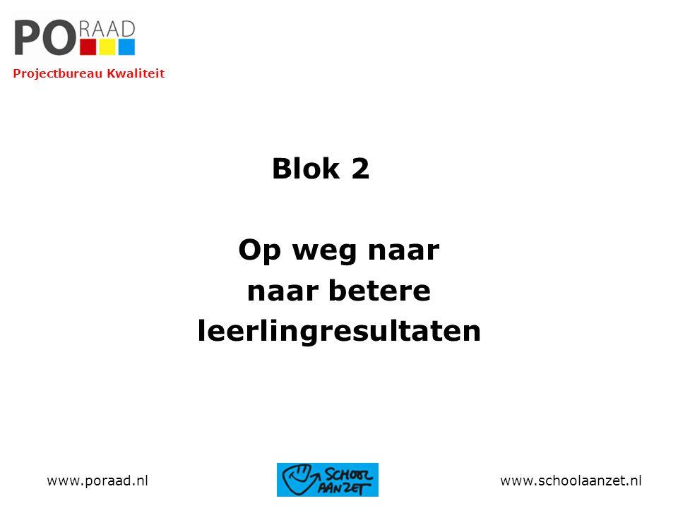 Blok 2 Op weg naar naar betere leerlingresultaten