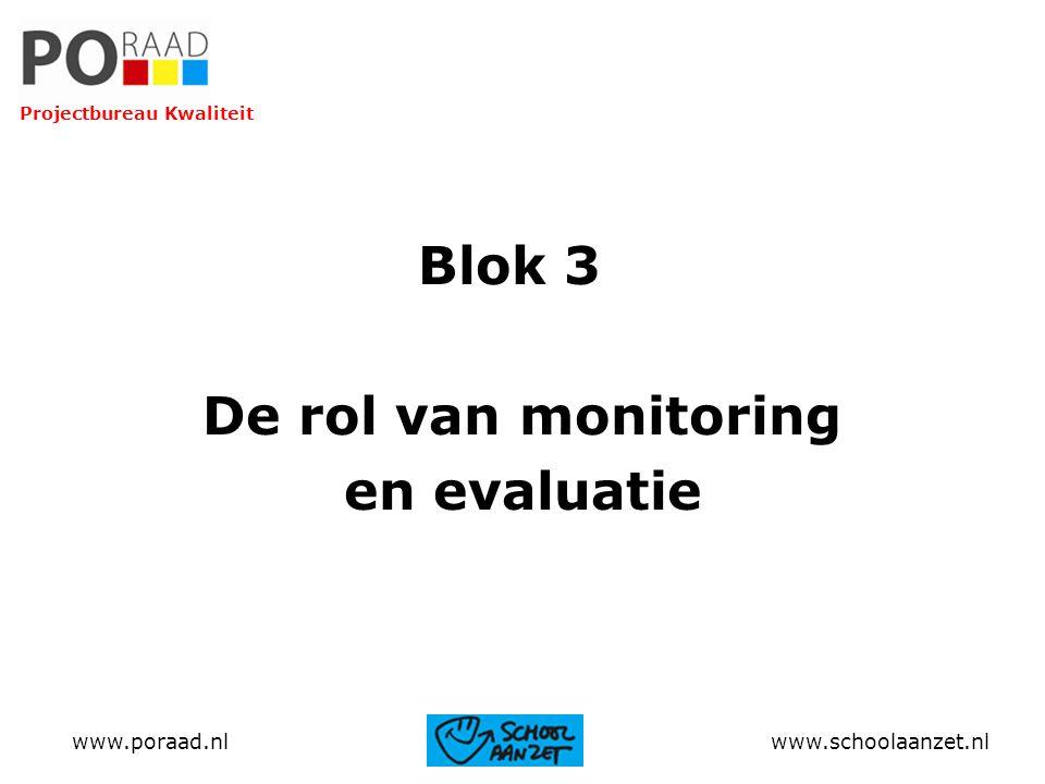 Blok 3 De rol van monitoring en evaluatie