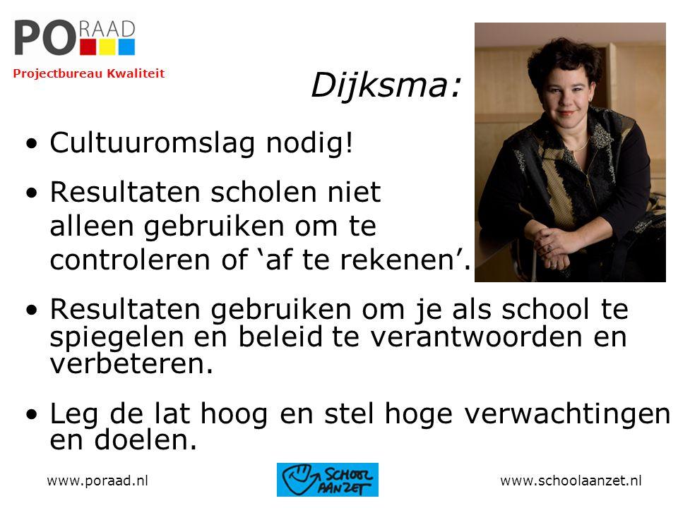 Dijksma: Cultuuromslag nodig! Resultaten scholen niet