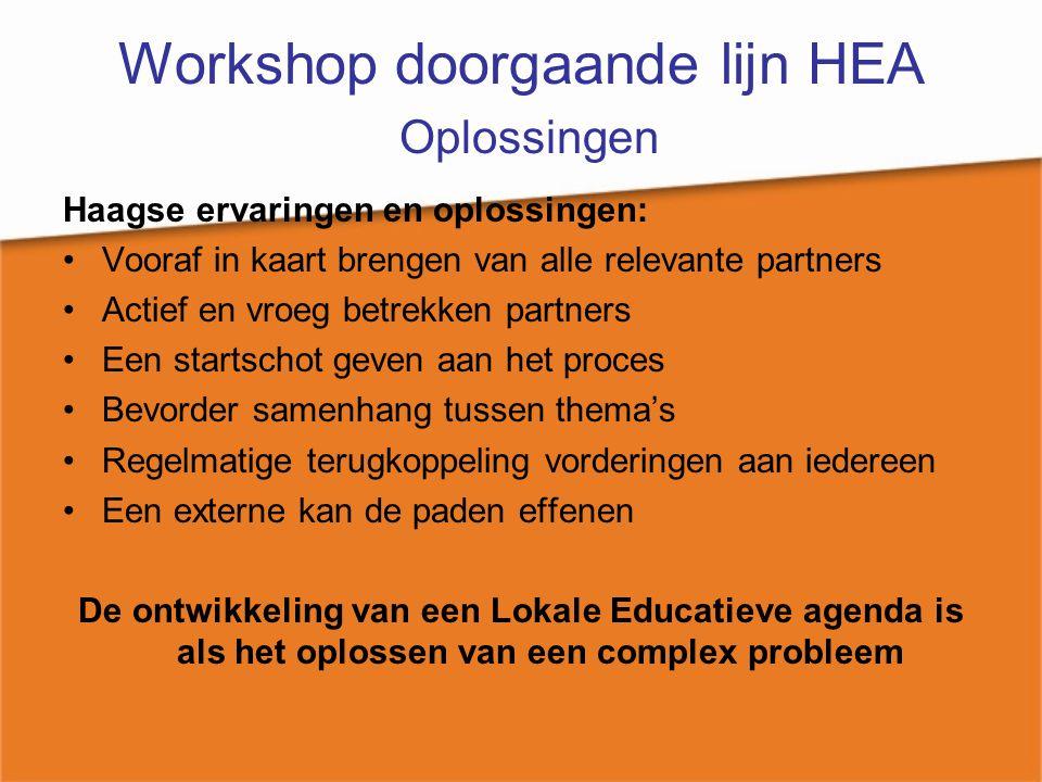 Workshop doorgaande lijn HEA Oplossingen