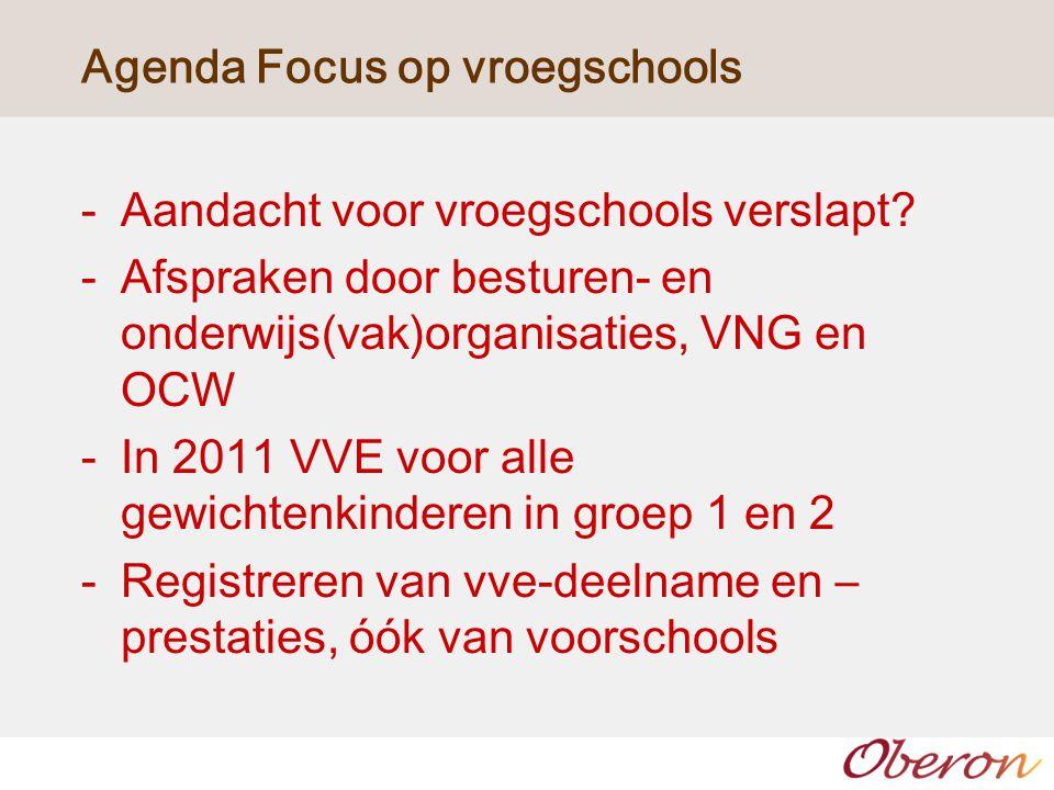 Agenda Focus op vroegschools