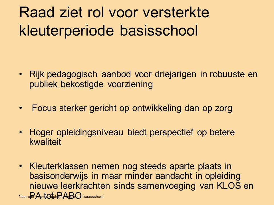 Raad ziet rol voor versterkte kleuterperiode basisschool