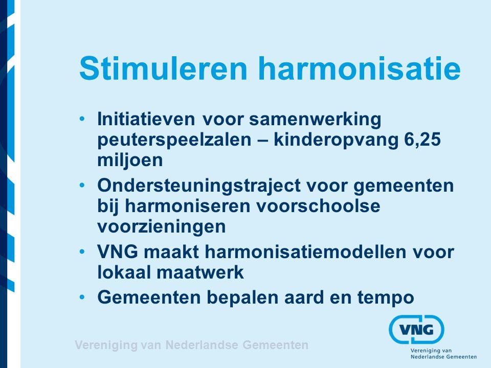 Stimuleren harmonisatie