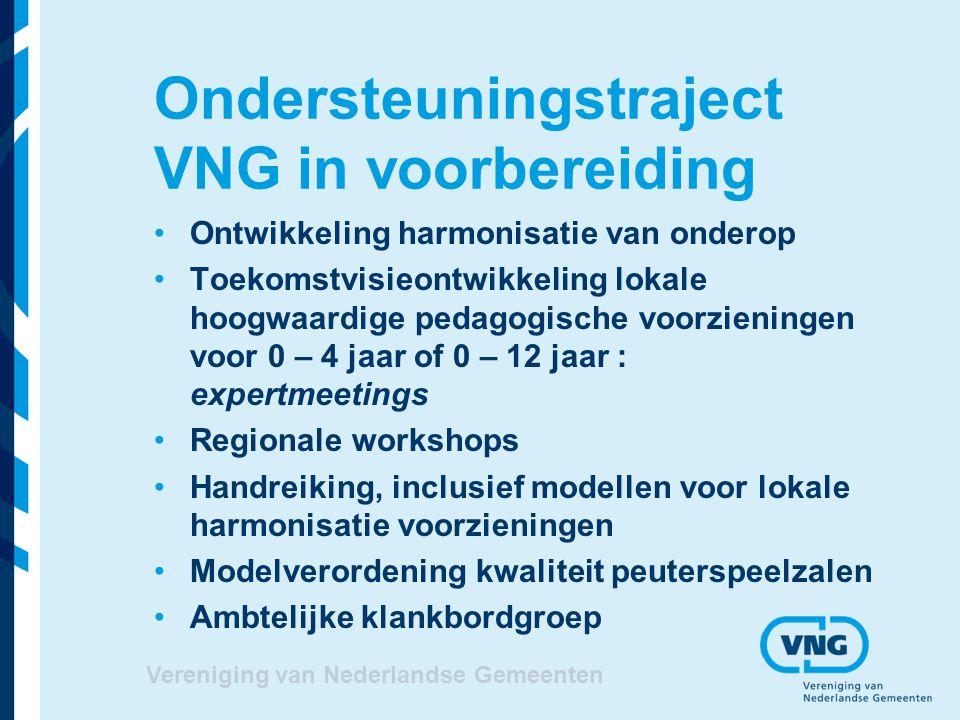 Ondersteuningstraject VNG in voorbereiding