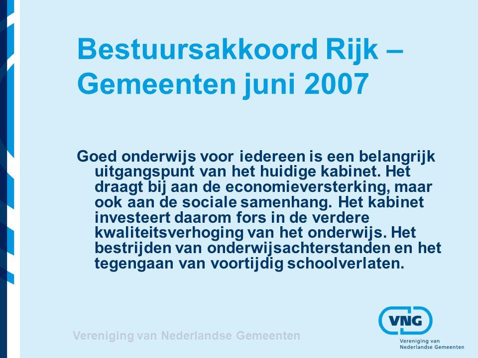 Bestuursakkoord Rijk – Gemeenten juni 2007