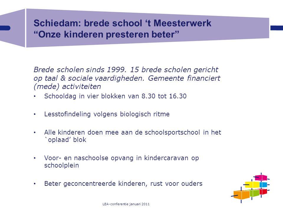 Schiedam: brede school 't Meesterwerk Onze kinderen presteren beter