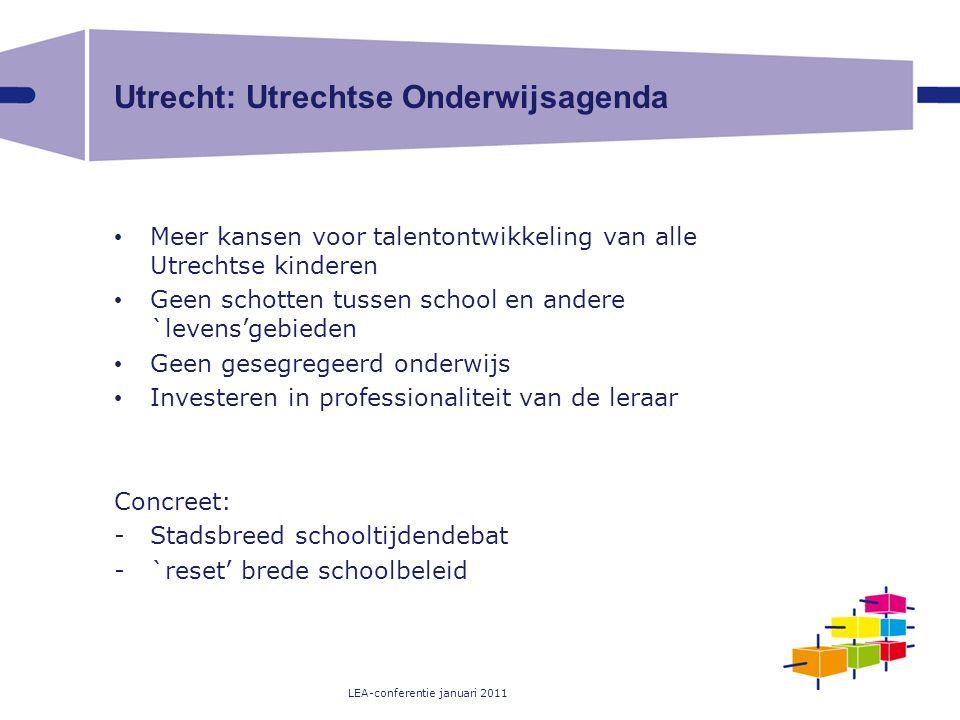 Utrecht: Utrechtse Onderwijsagenda