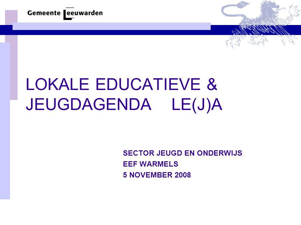 LOKALE EDUCATIEVE & JEUGDAGENDA LE(J)A