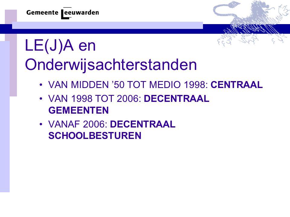 LE(J)A en Onderwijsachterstanden