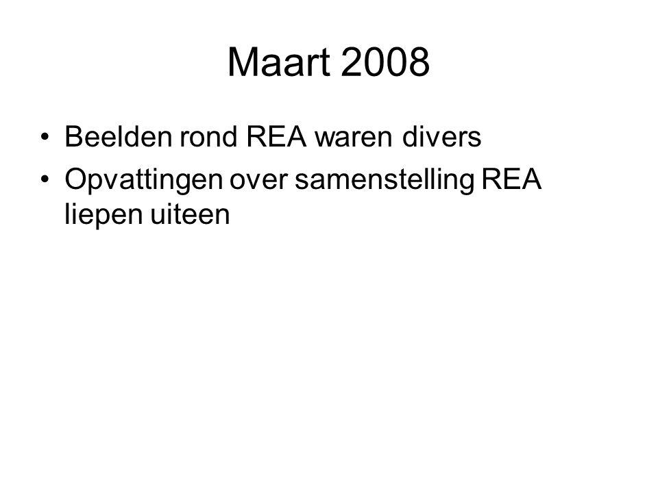 Maart 2008 Beelden rond REA waren divers