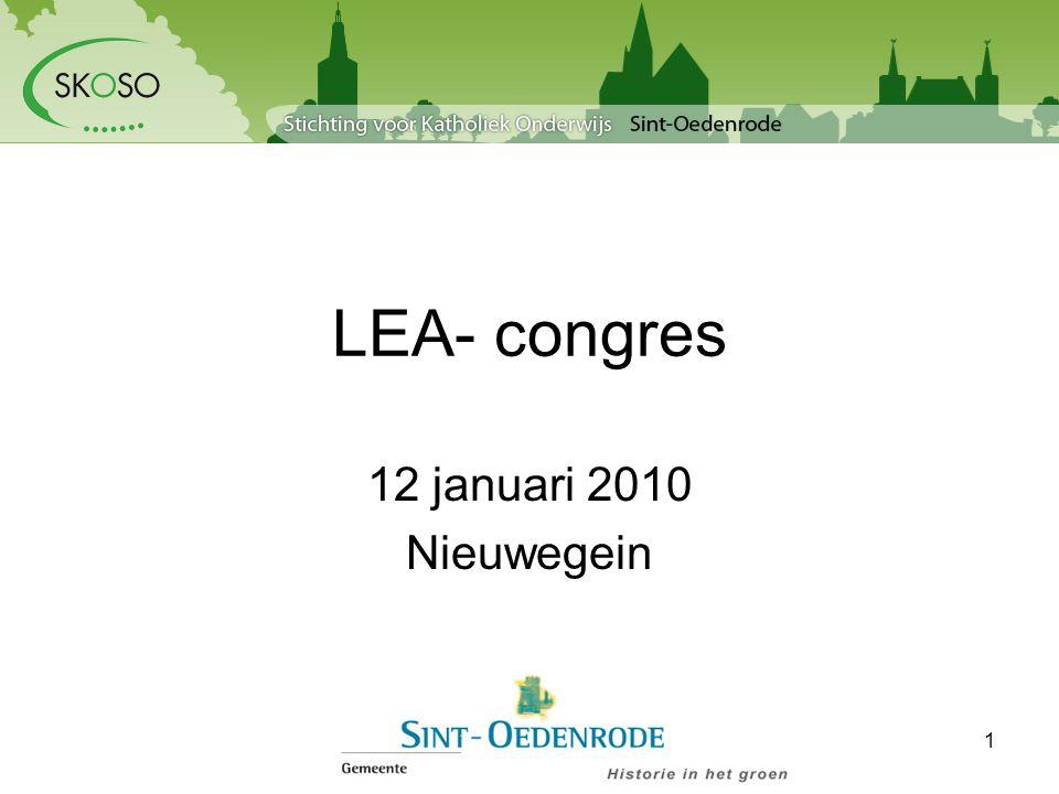 LEA- congres 12 januari 2010 Nieuwegein