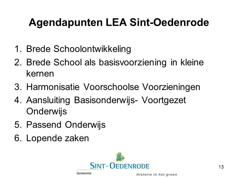 Agendapunten LEA Sint-Oedenrode