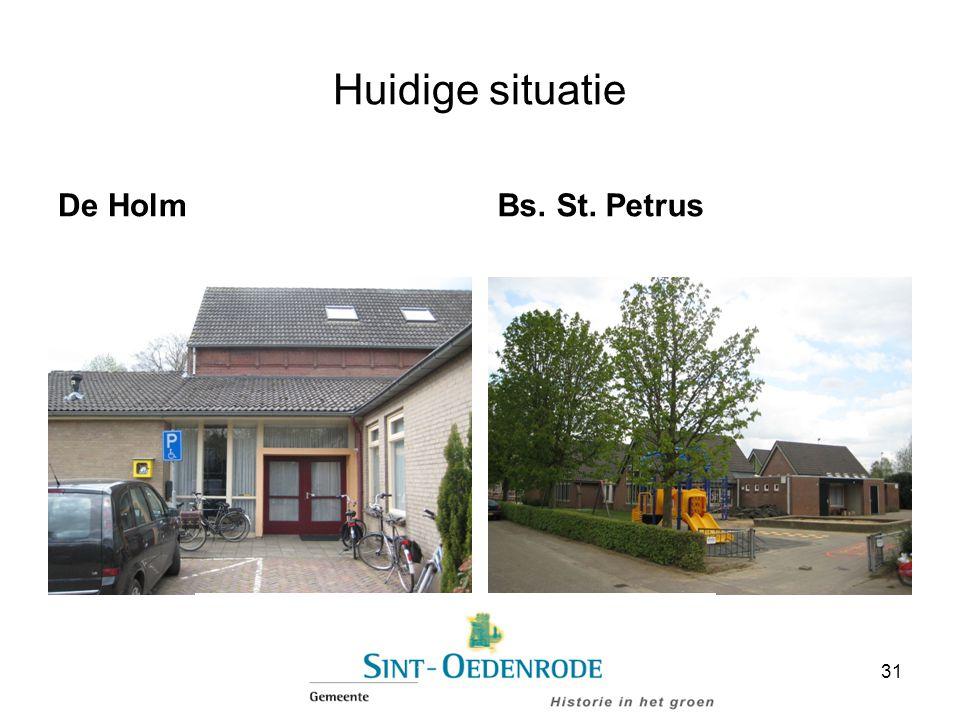 Huidige situatie De Holm Bs. St. Petrus