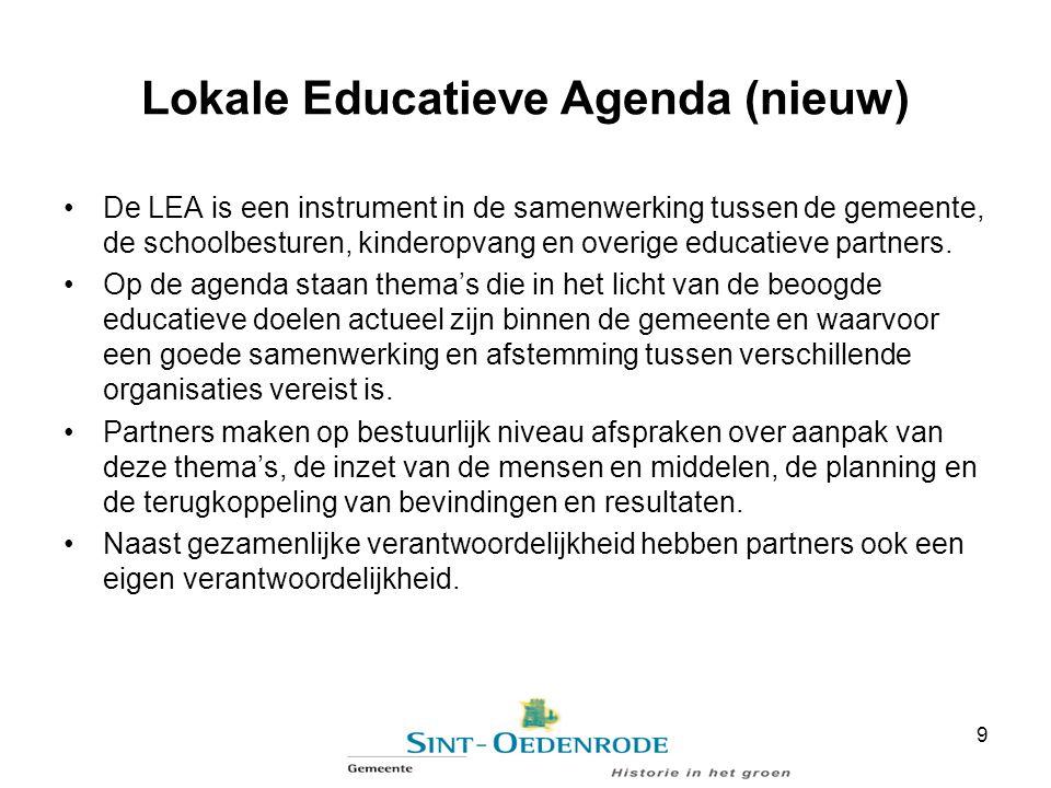 Lokale Educatieve Agenda (nieuw)