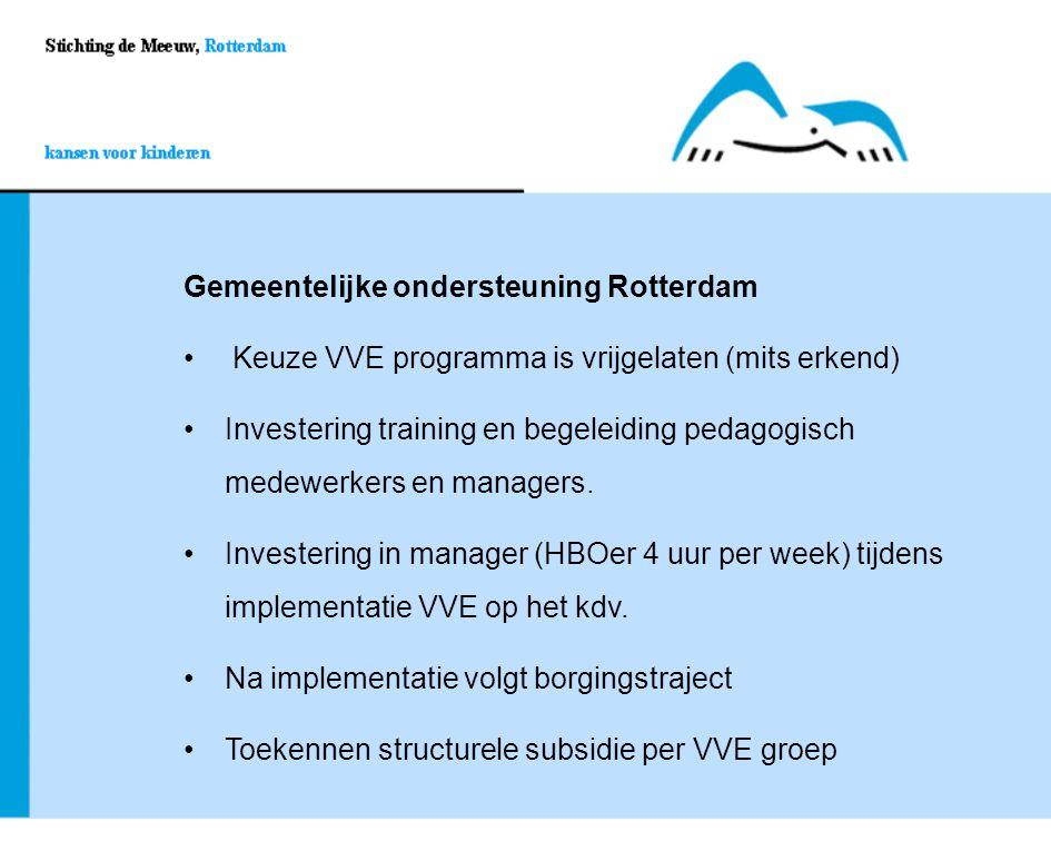 Gemeentelijke ondersteuning Rotterdam