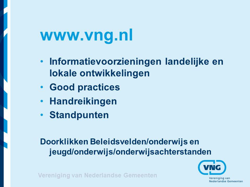 www.vng.nl Informatievoorzieningen landelijke en lokale ontwikkelingen