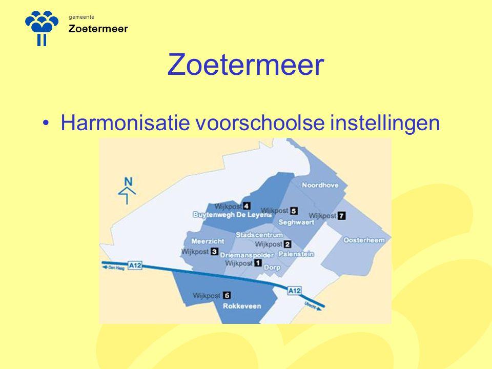 Zoetermeer Harmonisatie voorschoolse instellingen