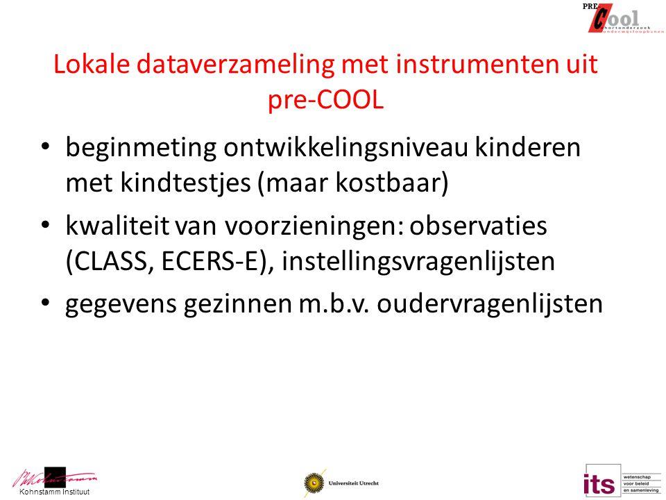 Lokale dataverzameling met instrumenten uit pre-COOL