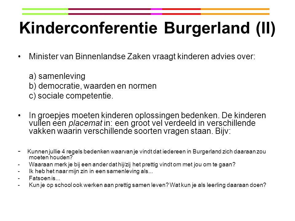 Kinderconferentie Burgerland (II)
