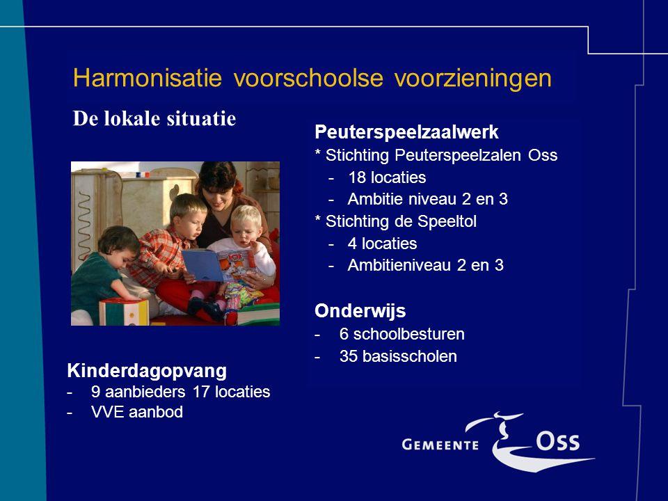 Harmonisatie voorschoolse voorzieningen