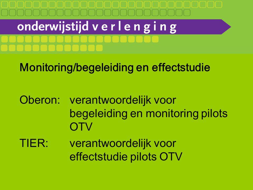 Monitoring/begeleiding en effectstudie