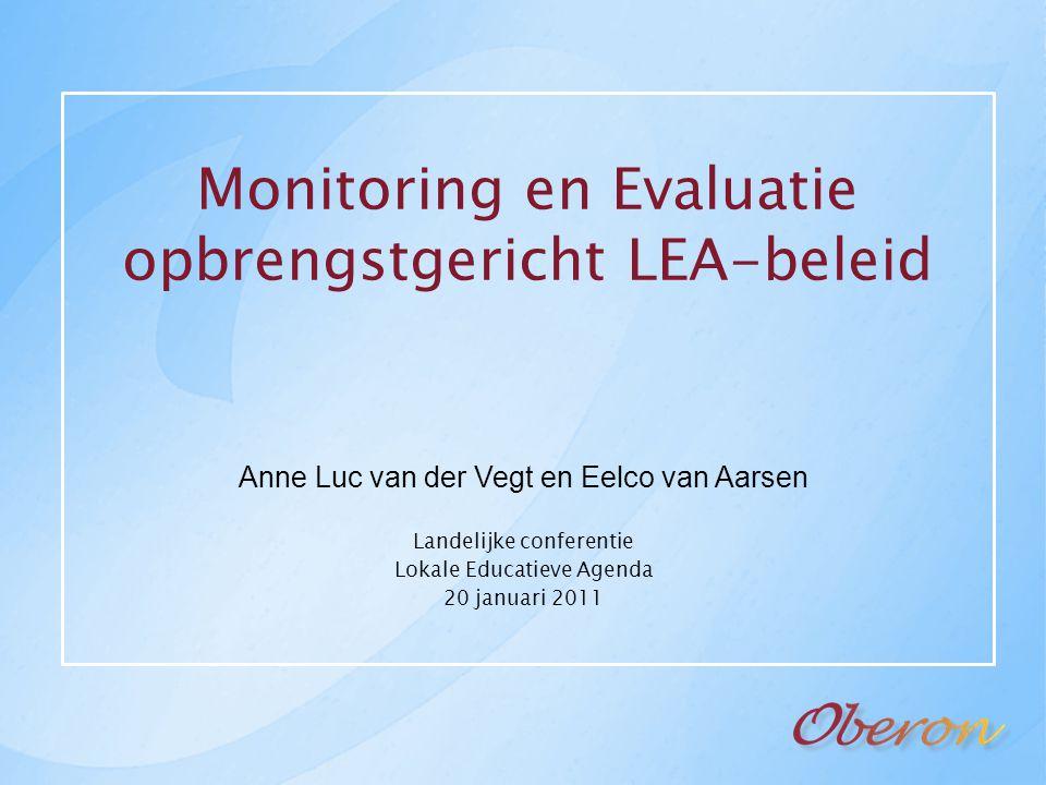 Monitoring en Evaluatie opbrengstgericht LEA-beleid