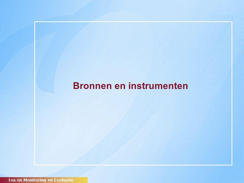 Bronnen en instrumenten