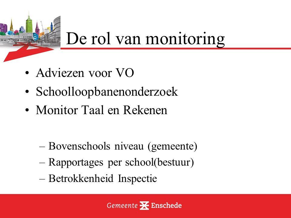 De rol van monitoring Adviezen voor VO Schoolloopbanenonderzoek